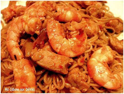 recette de cuisine avec des crevettes nouilles chinoises crevettes et poulet recettes faciles