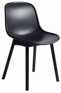 Chaise Plastique Noir : chaise neu plastique pieds bois noir pieds noirs hay ~ Teatrodelosmanantiales.com Idées de Décoration