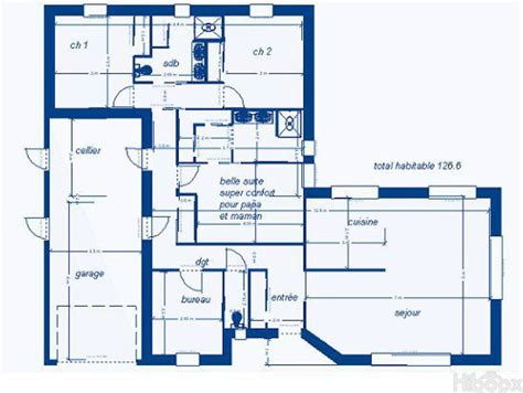Plan Maison Plain Pied 120m2 3 Chambres