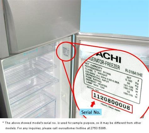 Where to Find Hitachi Appliance Serial Numbers