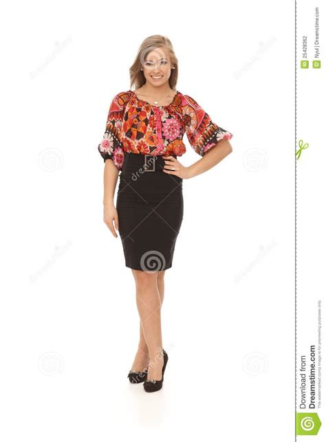 Full Size Photo Of Pretty Girl Smiling Stock Photo Image