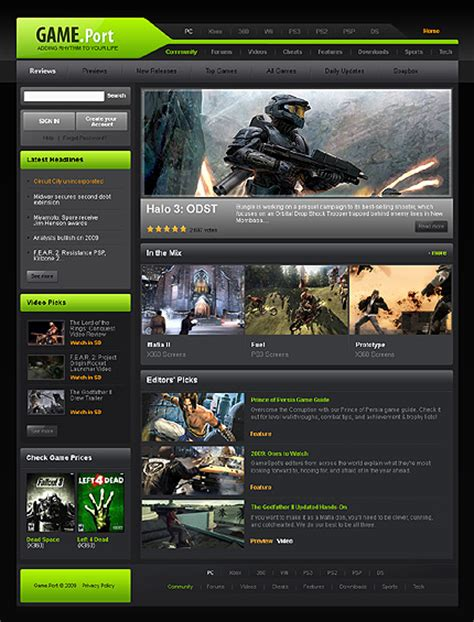gaming website template thrilling website templates entheos