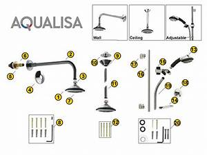 Aqualisa Axis Shower Heads Shower Spares And Parts