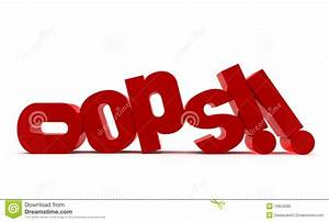 Oops!! Stock Photo - Image: 19934280