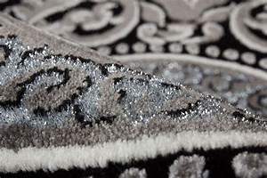 Teppich Mit Glitzer : lalee 347170340 designer teppich muster kreise silber schwarz 3d konturen glitzer edel gr sse ~ Frokenaadalensverden.com Haus und Dekorationen