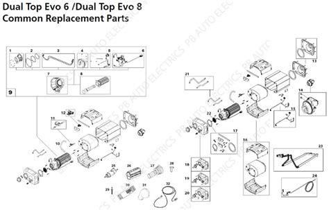 webasto dual top evo 6 8 common replacement parts pb