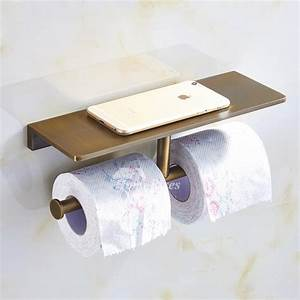 Antique, Double, Brushed, Bronze, Commercial, Toilet, Paper, Holder, Brass, Unique, Wall, Mounted, Bathroom