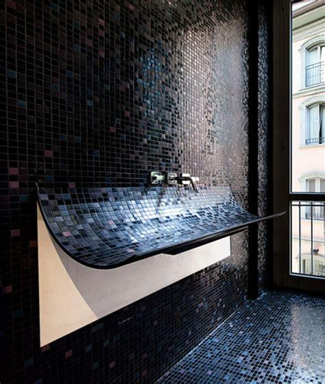 Bad Schwarze Fliesen by Badezimmer Mit Mosaik Gestalten 48 Ideen