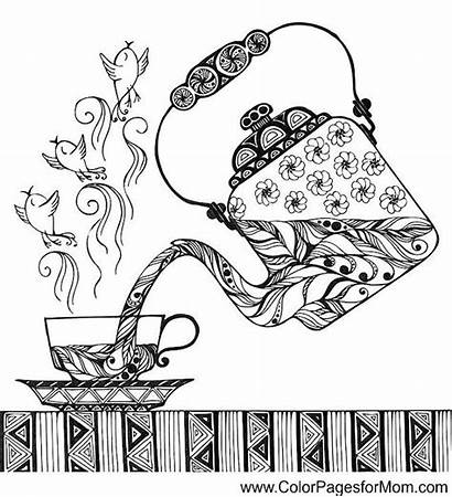 Coloring Coffee Pages Colouring Printable Adult Adults