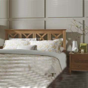 maiden solid oak super king headboard  serene