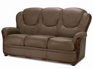 Fauteuil 3 Places : canap et fauteuil 100 cuir de buffle taupe adelaide ~ Teatrodelosmanantiales.com Idées de Décoration