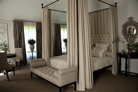 curtain bed on curtains above bed