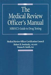 9781883595241  The Medical Review Officer U0026 39 S Manual  Mrocc