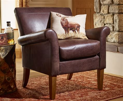 Warrenpoint Brown Vintage Faux Leather Armchair