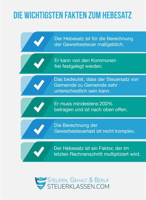 Grundsteuer Hebesatz Berechnung by Der Gewerbesteuer Hebesatz So Geht Es