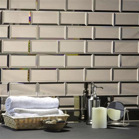stick on kitchen backsplash abolos echo 3 in x 6 in gold glass mirror peel and stick decorative wall tile backsplash 8