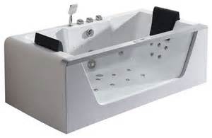 eago clear rectangular whirlpool bathtub for 2 with