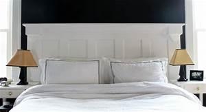 Tete De Lit Blanche : fabriquer une t te de lit en bois avec une porte la ~ Premium-room.com Idées de Décoration