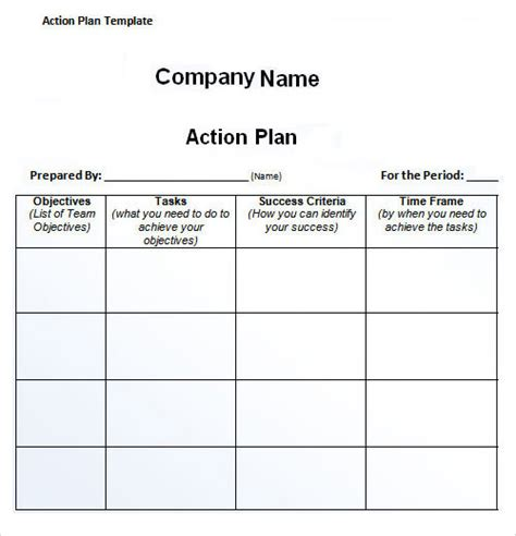 action plan template 27 plan templates sle templates