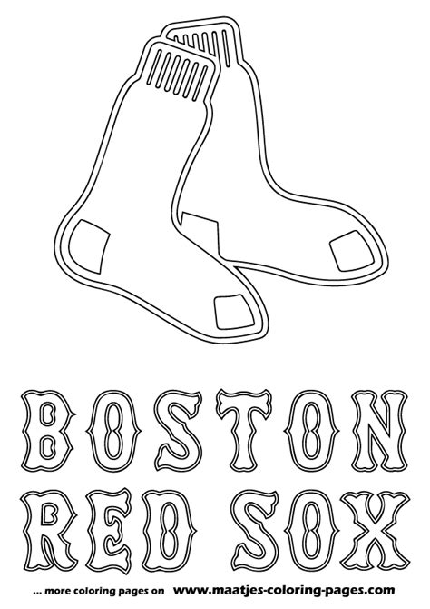 red sox coloring pages  print coloring home