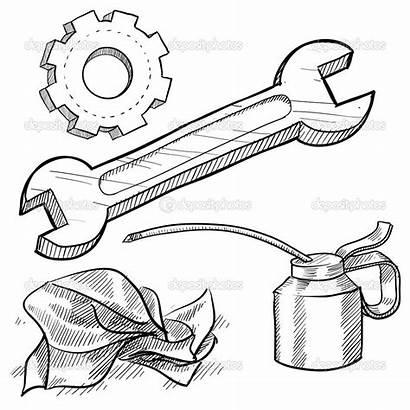 Vector Mechanic Tools Oil Mechanics Wrench Maintenance