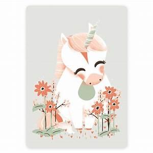 carte postale bebe licorne kanzilue la boutique part 1 With affiche chambre bébé avec carte d invitation anniversaire avec des fleurs