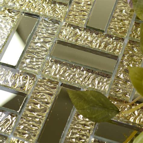 kitchen backsplash blue gold glass mirror tile backsplash bathroom mirrored mosaic