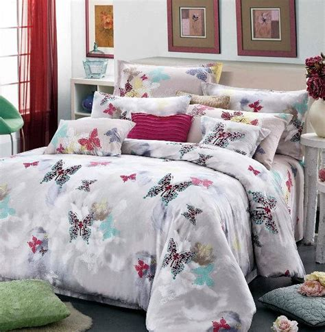 butterfly luxury egyptian cotton satin comforter bedding
