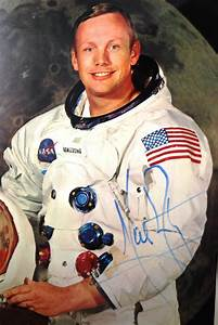 Neil Armstrong Signed Autograph Apollo 11 Wss Psa  Dna