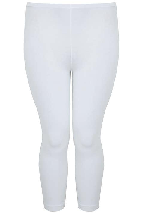 weisse  baumwoll elasthan leggins  size gr