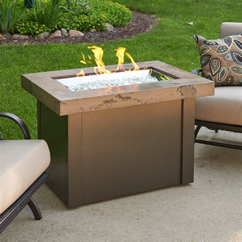 outdoor gas fireplace table providence outdoor gas fire pit table w marbleized noche