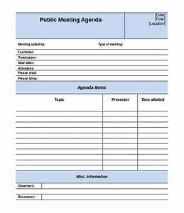 meeting agenda template 46 free word pdf documents With free minutes template for meetings