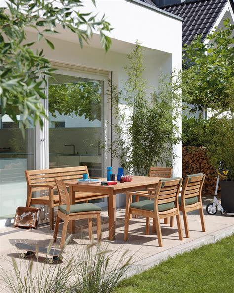 outdoor moebel aus holz stuhl terrasse esstisch