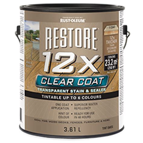 restore  clear coat transparent stain sealer
