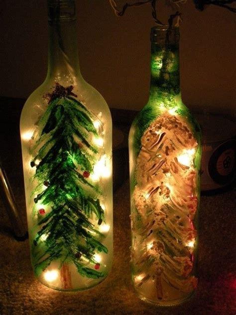christmas wine bottle lights  bottle lamp glasswork