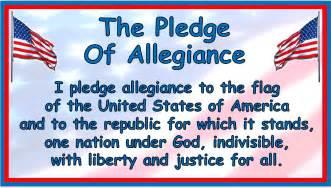Words Pledge Allegiance