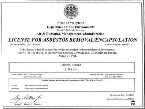 asbestos removal november