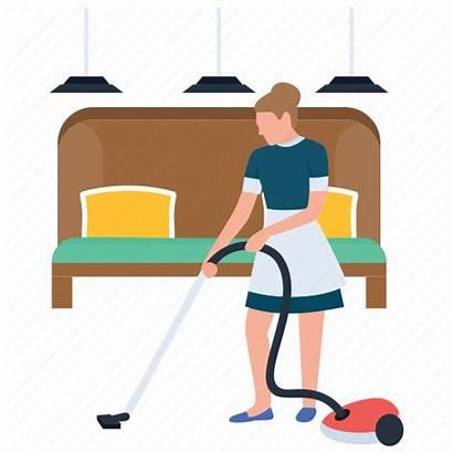 Housekeeping Clipart Attendant Staff Icon Hospitality Housekeeper