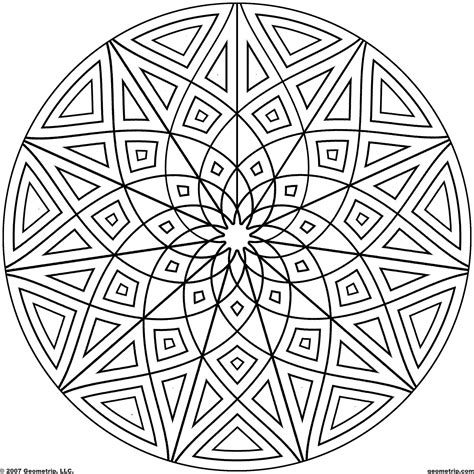 geometric mandala coloring pages coloring home