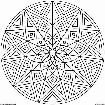 Coloring Geometric Pages Mandala Complicated Kaleidoscope Popular
