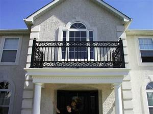 Portico Railing, Interior Railing and Front Doors in