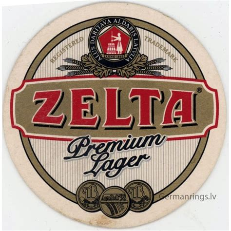Latvian beer coaster ZELTA - German WW2 rings and other ...