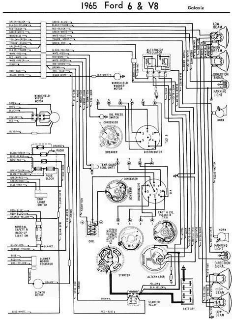 1967 Ford Galaxie Wiring Diagram Alternator by 1965 Ford Galaxie Complete Electrical Wiring Diagram Part