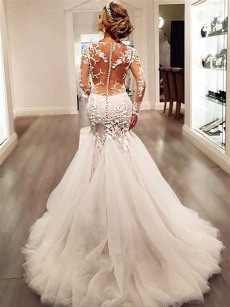 trumpet mermaid wedding dresses cheap mermaid style