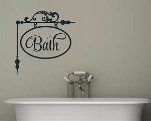 bath bathroom decor vinyl decal wall sticker words With bathroom vinyl lettering wall art