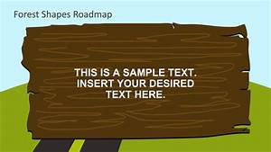 Wooden Log Text Board