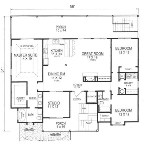 open kitchen great room floor plans talani vacation home plan 069d 0116 house plans 9008