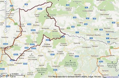 karte landkarte der dolomiten