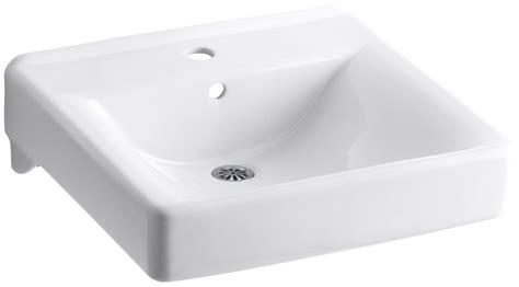 kohler wall hung sink kohler k 2084 0 white soho 18 quot wall mounted bathroom sink