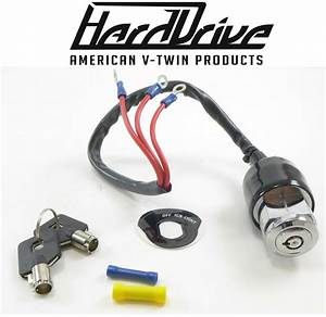 Hard Drive Motorcycle 3 Wire Position Ignition Switch Start Stop Harley Davidson